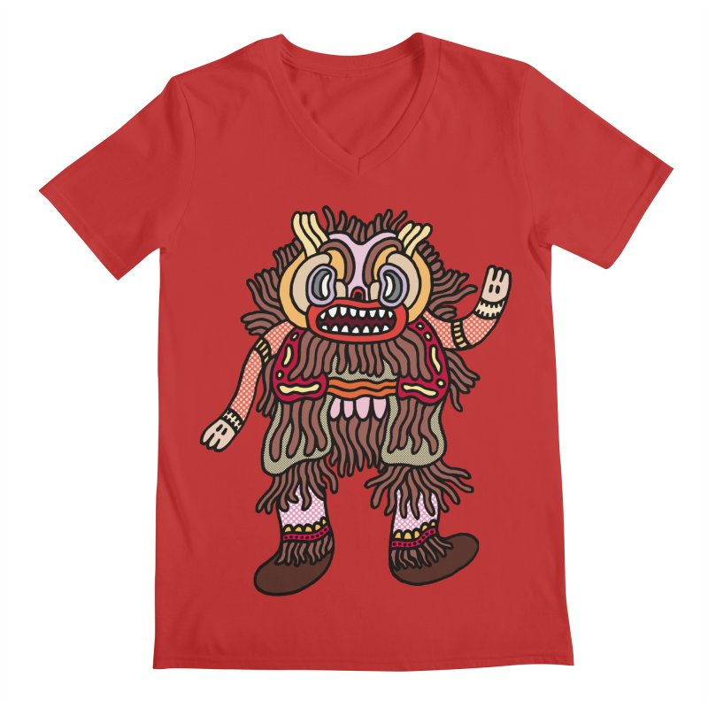 Olmeca Monster of the day (June 6) [Year 1] Men's V-Neck by Daily Monster Shop by Royal Glamsters