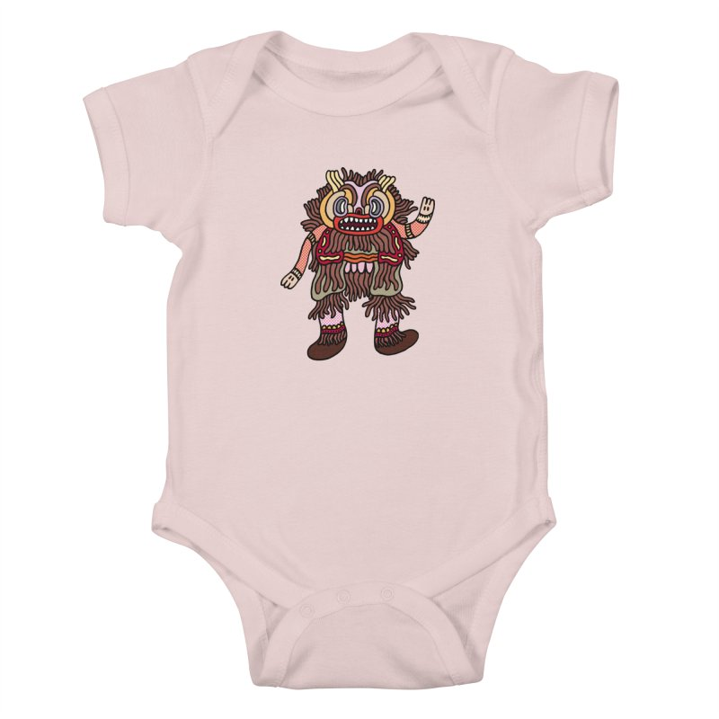 Olmeca Monster of the day (June 6) [Year 1] Kids Baby Bodysuit by Daily Monster Shop by Royal Glamsters