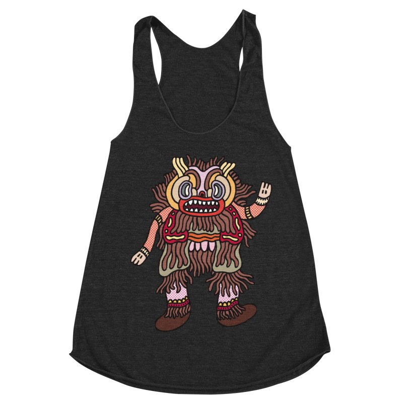 Olmeca Monster of the day (June 6) [Year 1] Women's Racerback Triblend Tank by Daily Monster Shop by Royal Glamsters