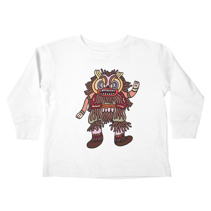 Olmeca Monster of the day (June 6) [Year 1] Kids Toddler Longsleeve T-Shirt by Daily Monster Shop by Royal Glamsters