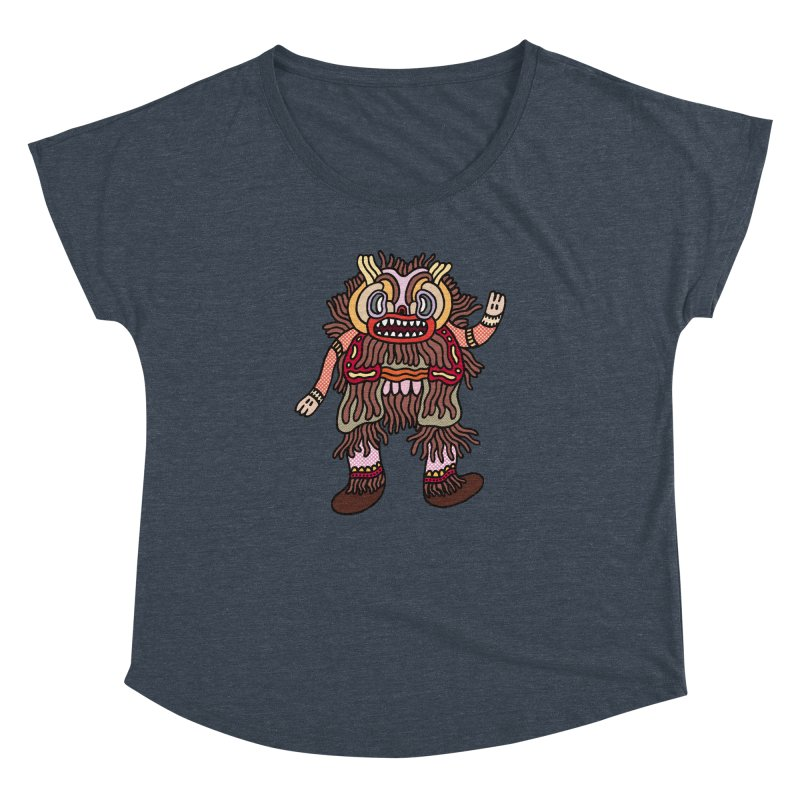 Olmeca Monster of the day (June 6) [Year 1] Women's Dolman Scoop Neck by Daily Monster Shop by Royal Glamsters