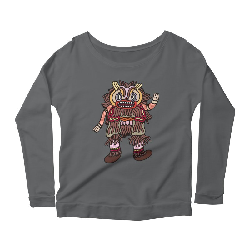 Olmeca Monster of the day (June 6) [Year 1] Women's Scoop Neck Longsleeve T-Shirt by Daily Monster Shop by Royal Glamsters
