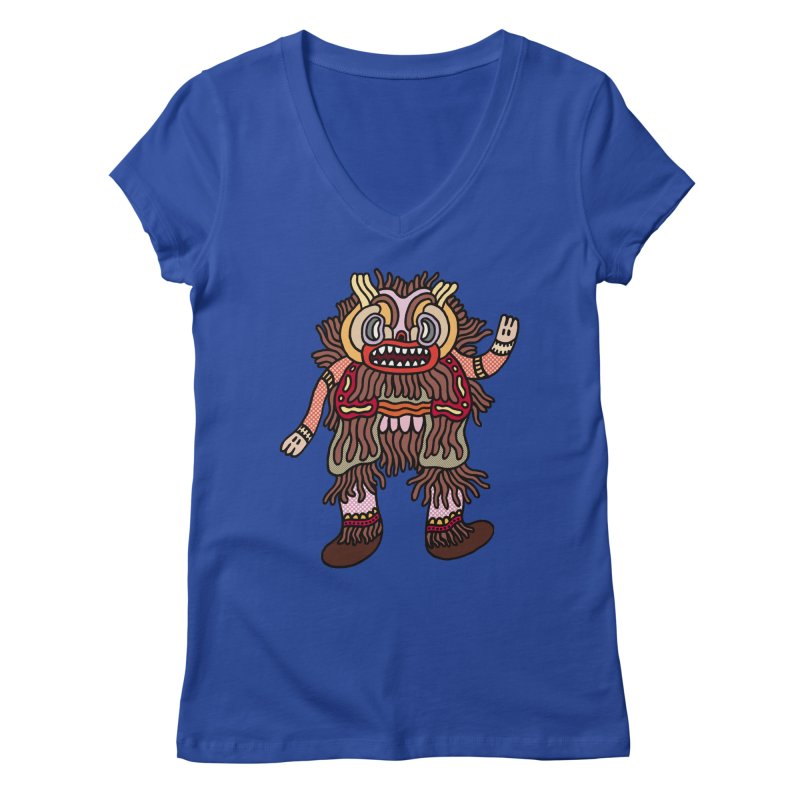 Olmeca Monster of the day (June 6) [Year 1] Women's Regular V-Neck by Daily Monster Shop by Royal Glamsters