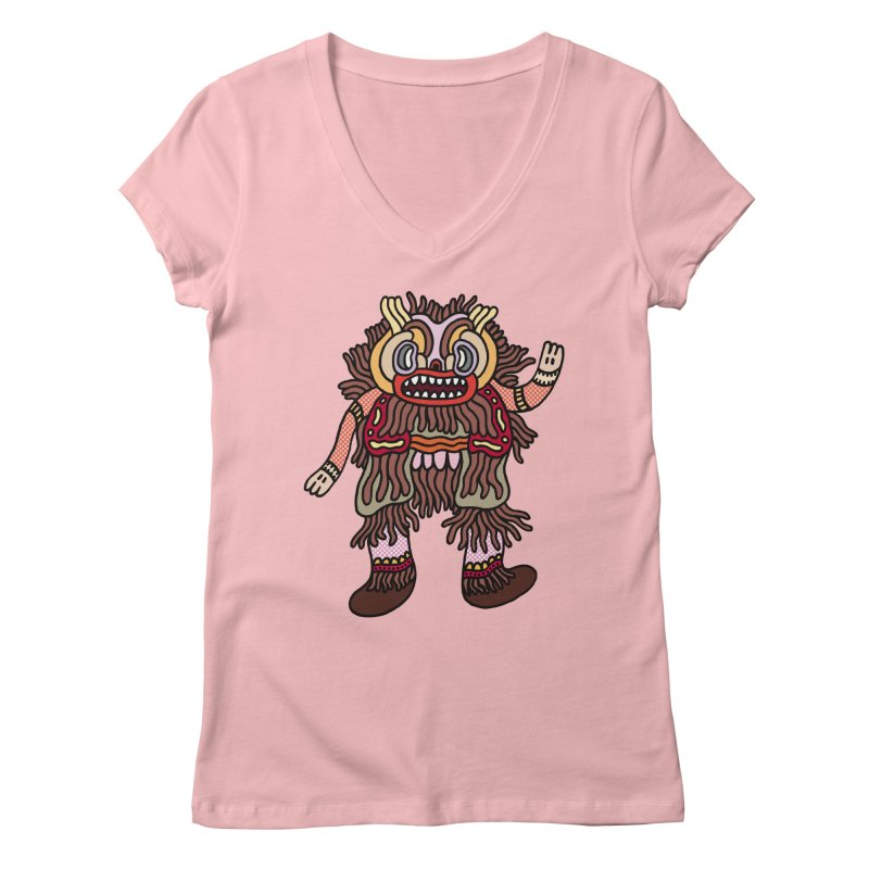 Olmeca Monster of the day (June 6) [Year 1] Women's V-Neck by Daily Monster Shop by Royal Glamsters