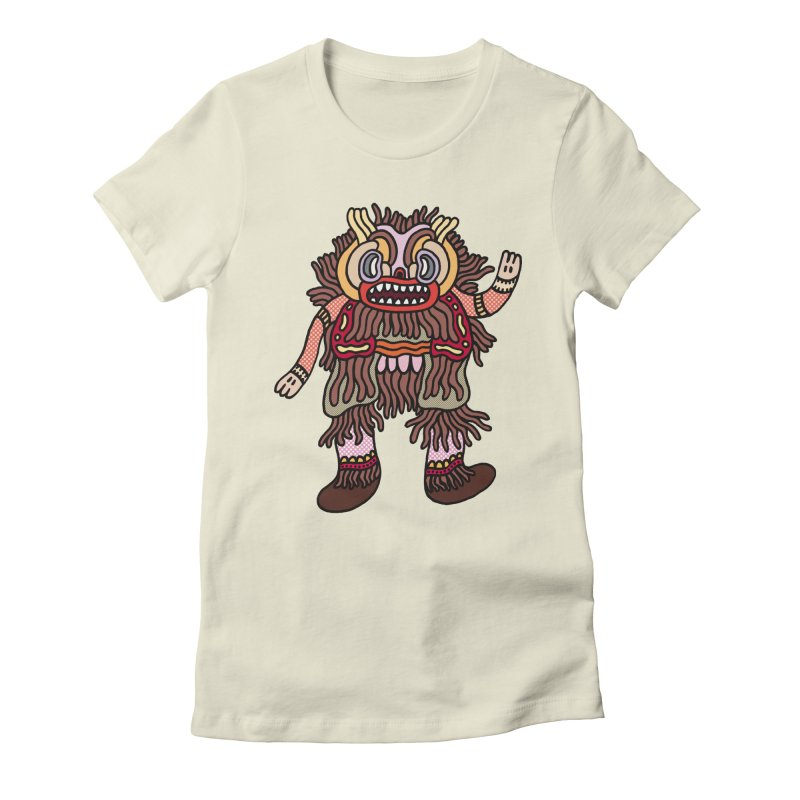 Olmeca Monster of the day (June 6) [Year 1] Women's Fitted T-Shirt by Daily Monster Shop by Royal Glamsters