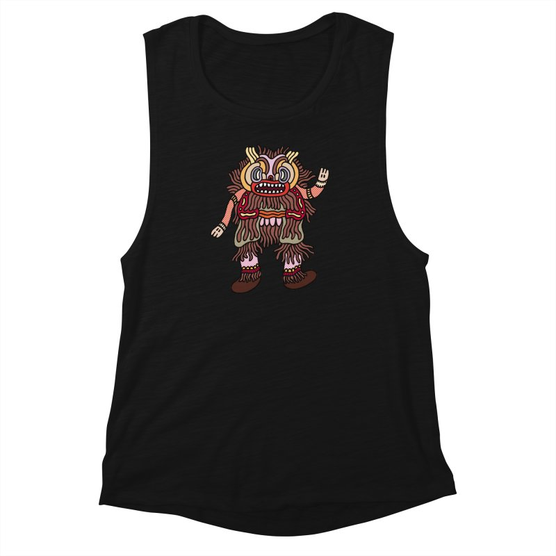 Olmeca Monster of the day (June 6) [Year 1] Women's Muscle Tank by Daily Monster Shop by Royal Glamsters
