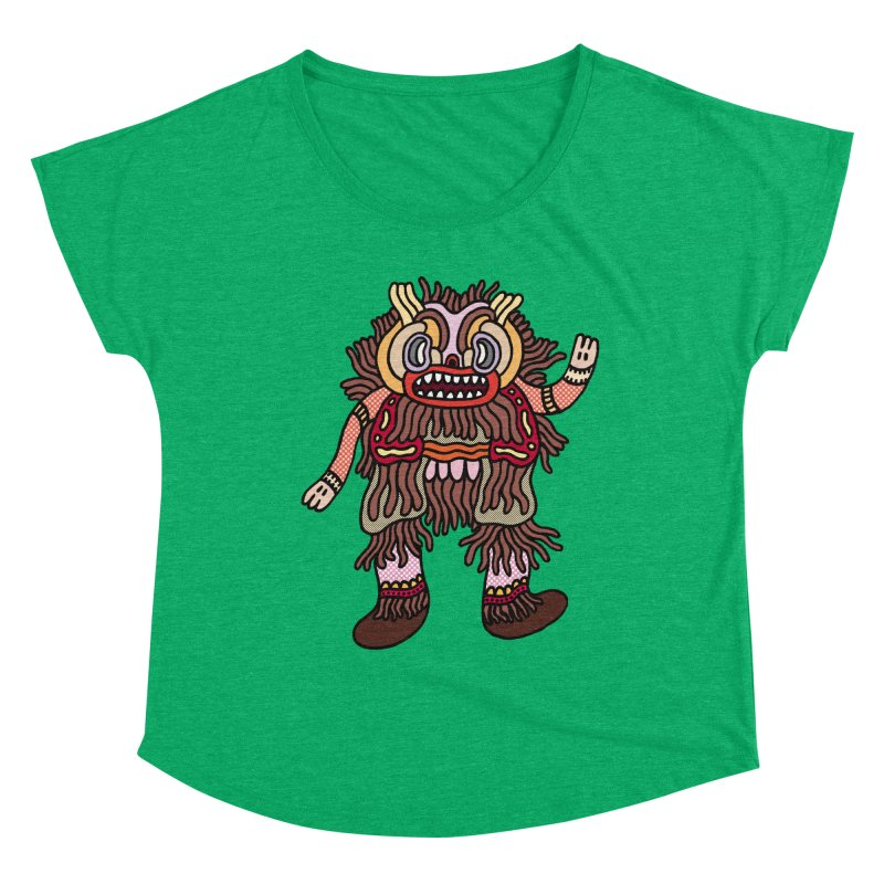 Olmeca Monster of the day (June 6) [Year 1] Women's Scoop Neck by Daily Monster Shop by Royal Glamsters