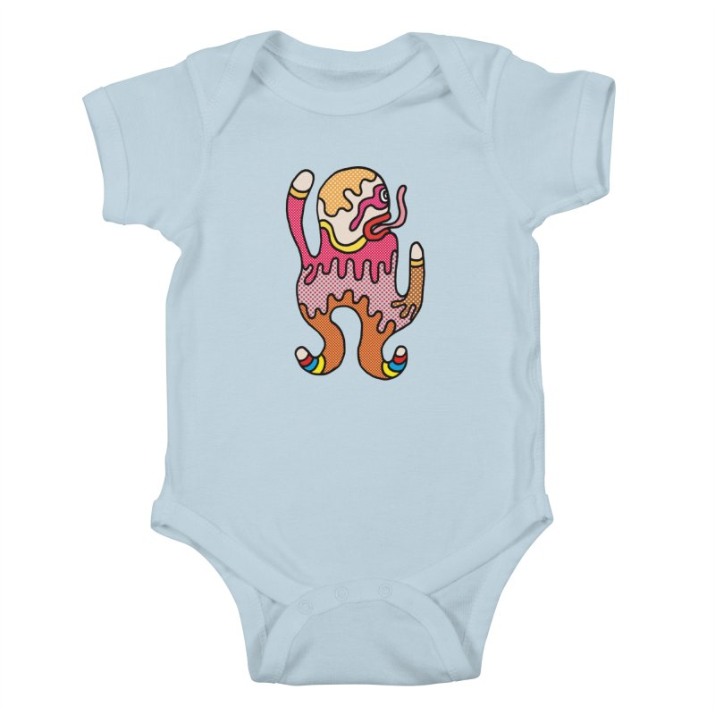 Monster of the day (January 31) [Year 1] Kids Baby Bodysuit by Daily Monster Shop by Royal Glamsters