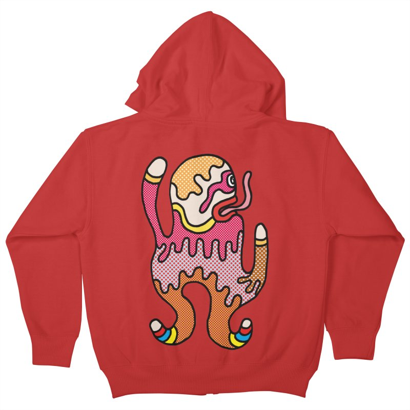 Monster of the day (January 31) [Year 1] in Kids Zip-Up Hoody Red by Daily Monster Shop by Royal Glamsters