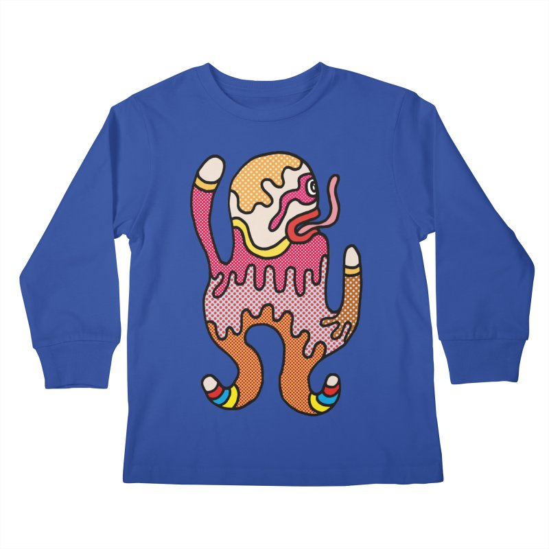 Monster of the day (January 31) [Year 1] Kids Longsleeve T-Shirt by Daily Monster Shop by Royal Glamsters