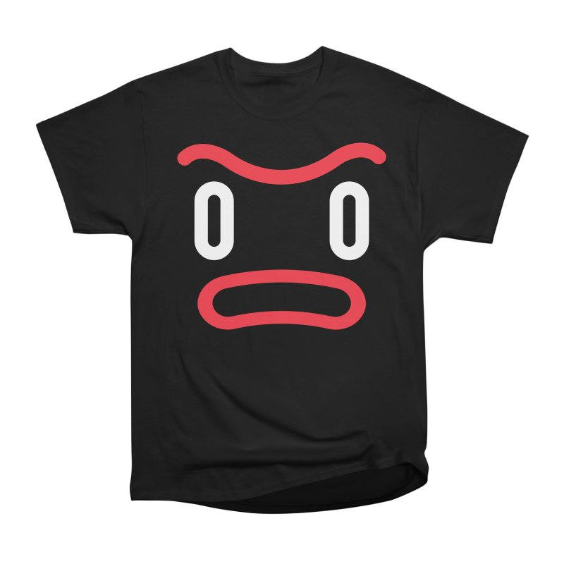 Freakish Face (1) in Men's Heavyweight T-Shirt Black by Daily Monster Shop by Royal Glamsters