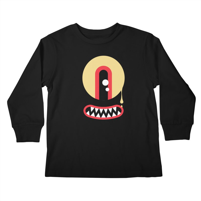 Freakish Face (2) in Kids Longsleeve T-Shirt Black by Daily Monster Shop by Royal Glamsters