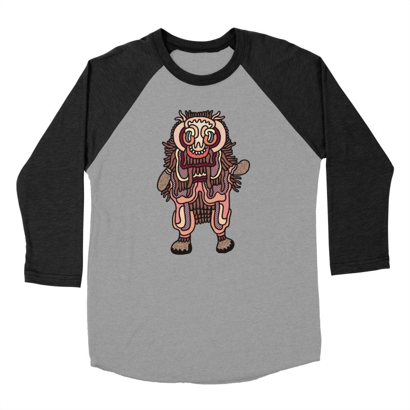 Olmeca Monster of the day (June 3) [Year 1] Men's Baseball Triblend Longsleeve T-Shirt by Daily Monster Shop by Royal Glamsters