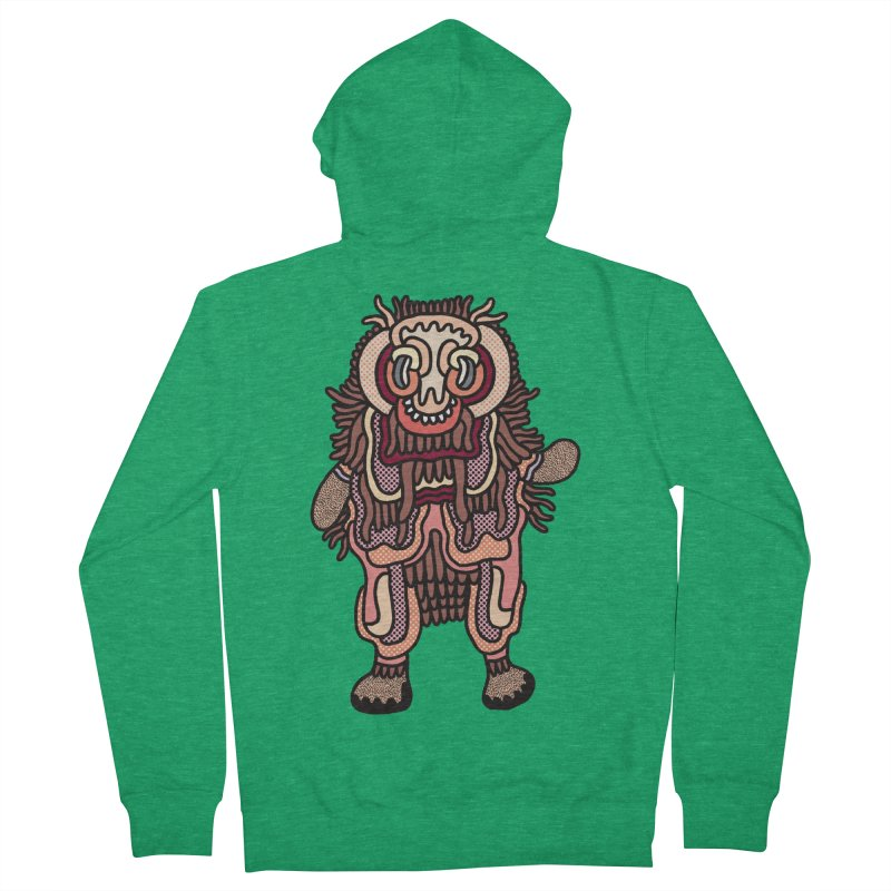 Olmeca Monster of the day (June 3) [Year 1] Women's French Terry Zip-Up Hoody by Daily Monster Shop by Royal Glamsters