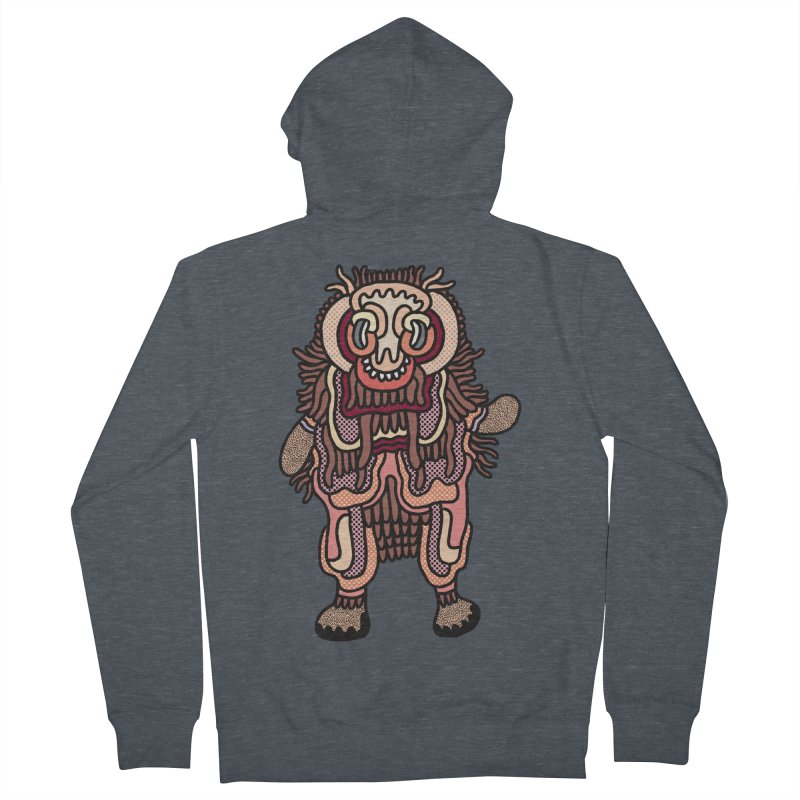 Olmeca Monster of the day (June 3) [Year 1] Men's Zip-Up Hoody by Daily Monster Shop by Royal Glamsters