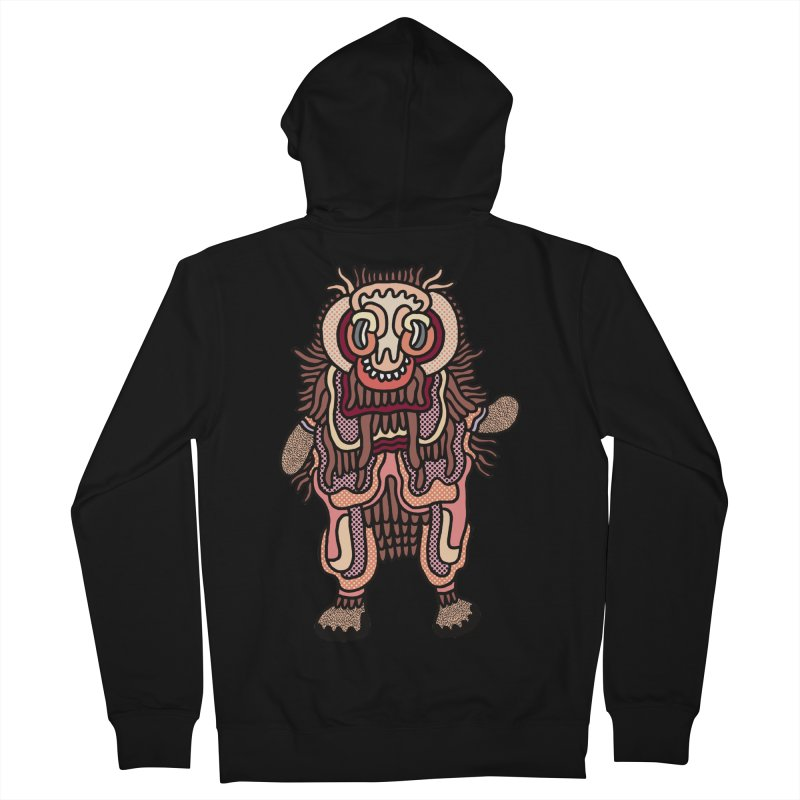 Olmeca Monster of the day (June 3) [Year 1] Men's French Terry Zip-Up Hoody by Daily Monster Shop by Royal Glamsters