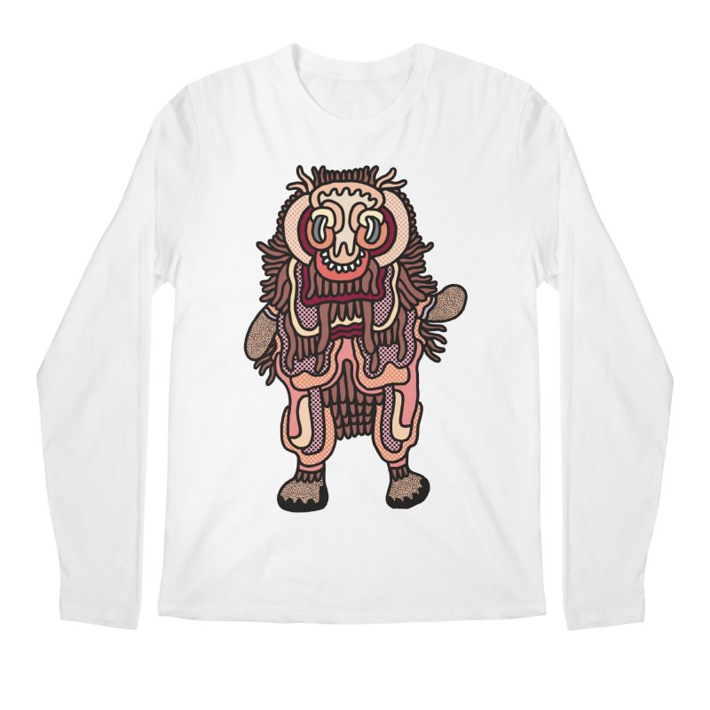 Olmeca Monster of the day (June 3) [Year 1] Men's Regular Longsleeve T-Shirt by Daily Monster Shop by Royal Glamsters