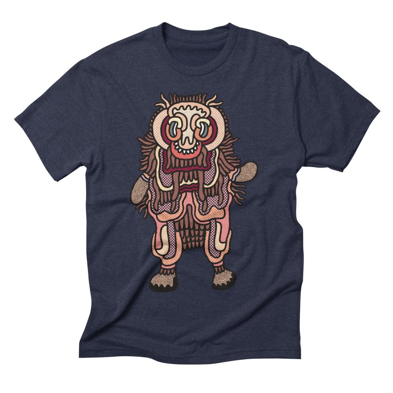 Olmeca Monster of the day (June 3) [Year 1] Men's Triblend T-Shirt by Daily Monster Shop by Royal Glamsters