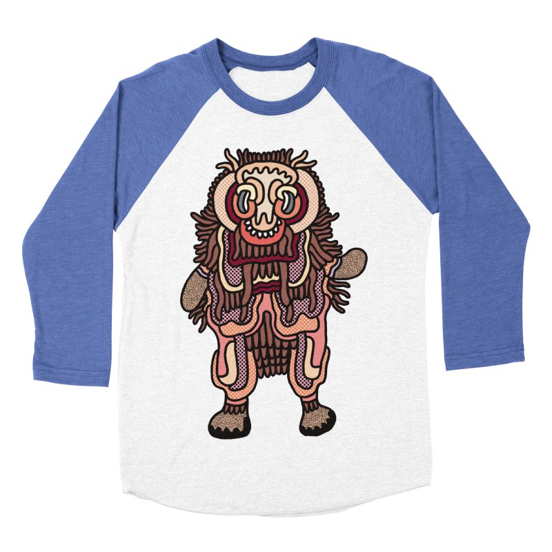 Olmeca Monster of the day (June 3) [Year 1] Men's Baseball Triblend T-Shirt by Daily Monster Shop by Royal Glamsters