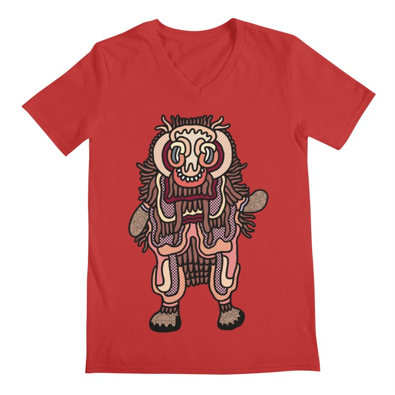 Olmeca Monster of the day (June 3) [Year 1] Men's V-Neck by Daily Monster Shop by Royal Glamsters