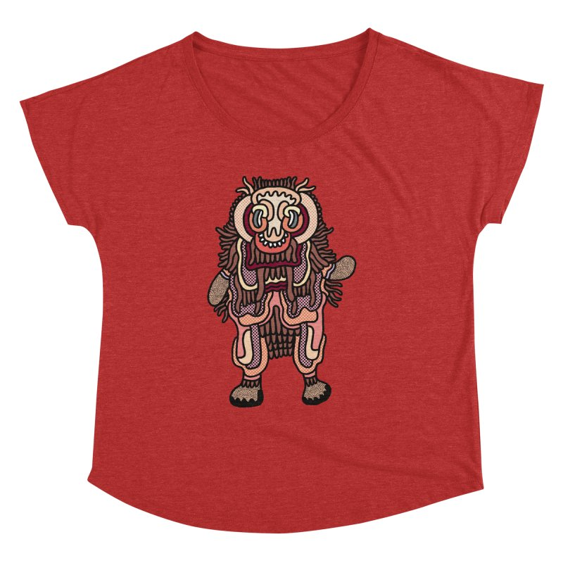 Olmeca Monster of the day (June 3) [Year 1] Women's Dolman Scoop Neck by Daily Monster Shop by Royal Glamsters