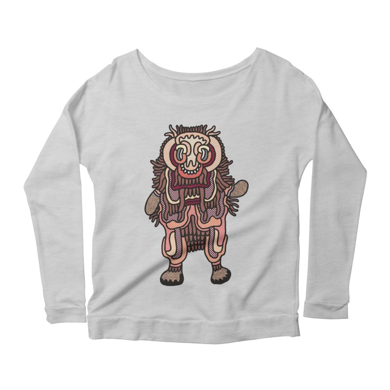 Olmeca Monster of the day (June 3) [Year 1] Women's Scoop Neck Longsleeve T-Shirt by Daily Monster Shop by Royal Glamsters