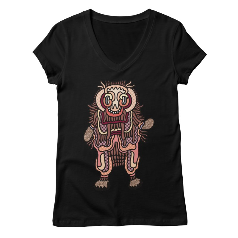 Olmeca Monster of the day (June 3) [Year 1] Women's V-Neck by Daily Monster Shop by Royal Glamsters