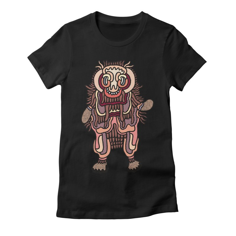 Olmeca Monster of the day (June 3) [Year 1] Women's Fitted T-Shirt by Daily Monster Shop by Royal Glamsters