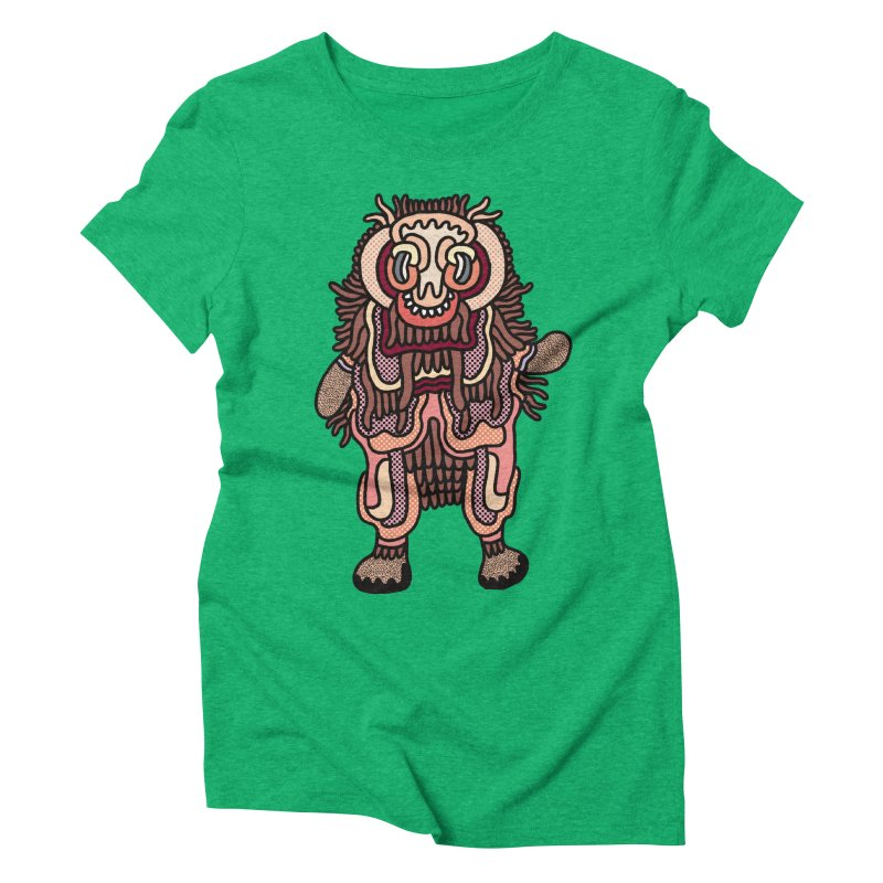 Olmeca Monster of the day (June 3) [Year 1] Women's Triblend T-Shirt by Daily Monster Shop by Royal Glamsters