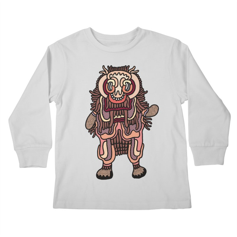 Olmeca Monster of the day (June 3) [Year 1] Kids Longsleeve T-Shirt by Daily Monster Shop by Royal Glamsters