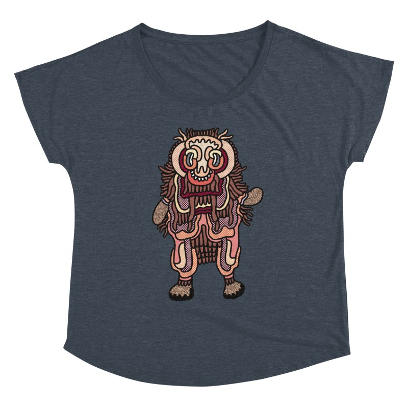 Olmeca Monster of the day (June 3) [Year 1] Women's Scoop Neck by Daily Monster Shop by Royal Glamsters