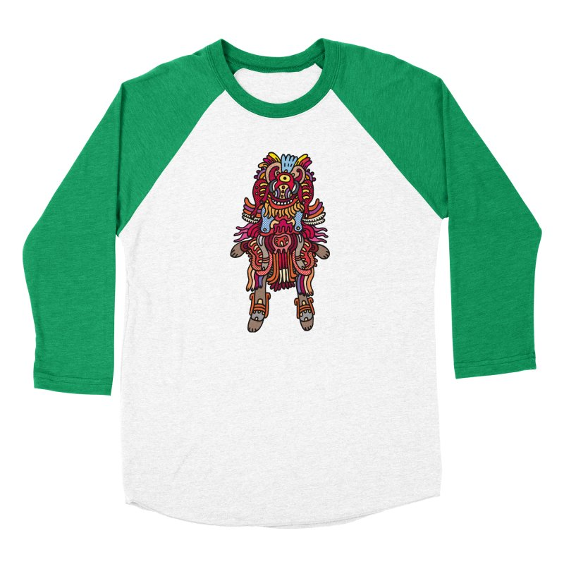 Olmeca Monster of the day (June 29) [Year 1] Men's Baseball Triblend Longsleeve T-Shirt by Daily Monster Shop by Royal Glamsters