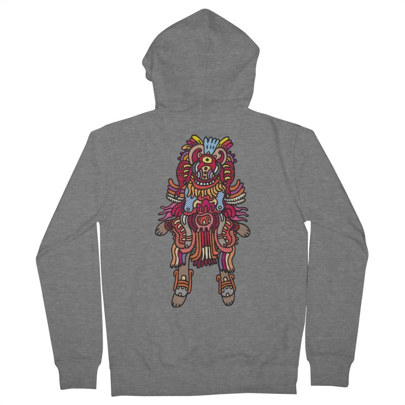 Olmeca Monster of the day (June 29) [Year 1] Men's Zip-Up Hoody by Daily Monster Shop by Royal Glamsters