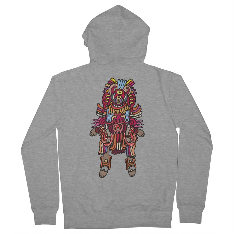 Olmeca Monster of the day (June 29) [Year 1] Men's French Terry Zip-Up Hoody by Daily Monster Shop by Royal Glamsters