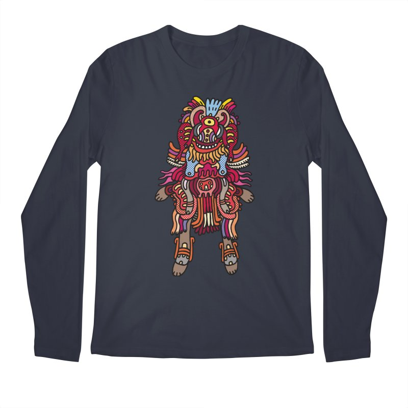 Olmeca Monster of the day (June 29) [Year 1] Men's Regular Longsleeve T-Shirt by Daily Monster Shop by Royal Glamsters