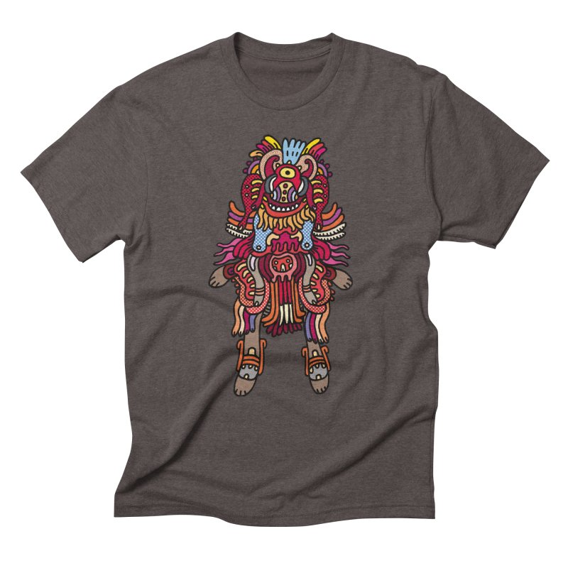 Olmeca Monster of the day (June 29) [Year 1] Men's Triblend T-Shirt by Daily Monster Shop by Royal Glamsters