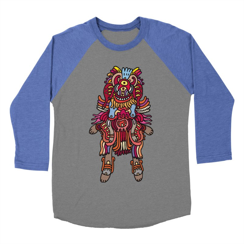 Olmeca Monster of the day (June 29) [Year 1] Women's Baseball Triblend Longsleeve T-Shirt by Daily Monster Shop by Royal Glamsters