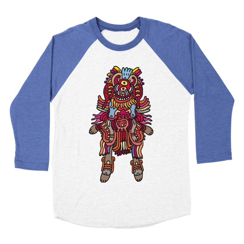 Olmeca Monster of the day (June 29) [Year 1] Men's Baseball Triblend T-Shirt by Daily Monster Shop by Royal Glamsters