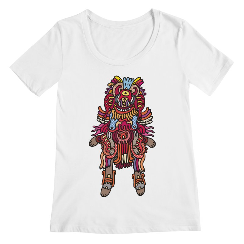 Olmeca Monster of the day (June 29) [Year 1] Women's Regular Scoop Neck by Daily Monster Shop by Royal Glamsters
