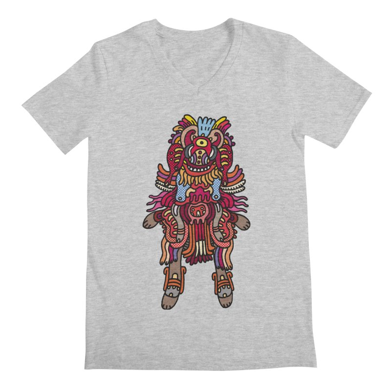 Olmeca Monster of the day (June 29) [Year 1] Men's Regular V-Neck by Daily Monster Shop by Royal Glamsters