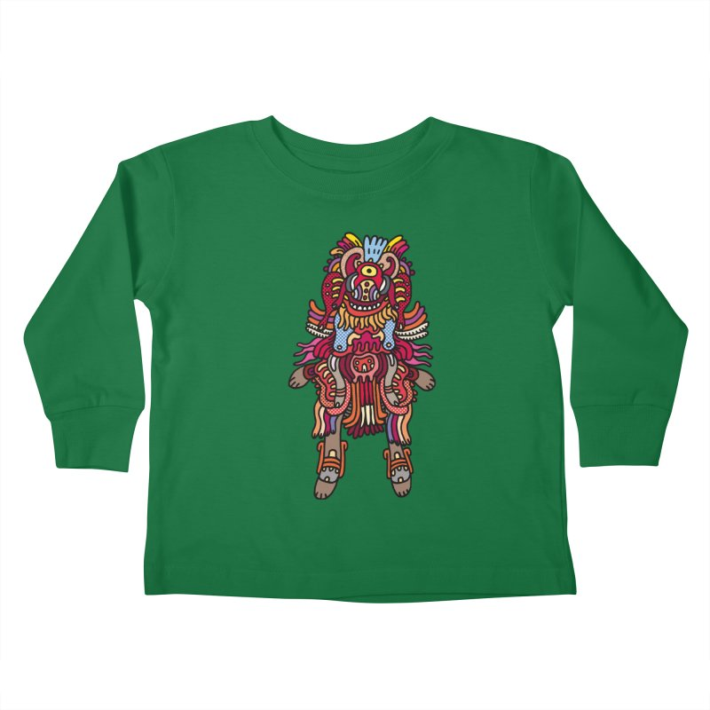 Olmeca Monster of the day (June 29) [Year 1] Kids Toddler Longsleeve T-Shirt by Daily Monster Shop by Royal Glamsters