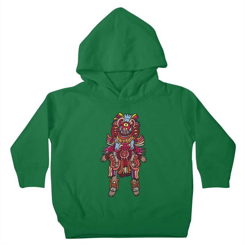 Olmeca Monster of the day (June 29) [Year 1] Kids Toddler Pullover Hoody by Daily Monster Shop by Royal Glamsters