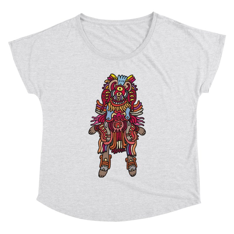 Olmeca Monster of the day (June 29) [Year 1] Women's Dolman Scoop Neck by Daily Monster Shop by Royal Glamsters