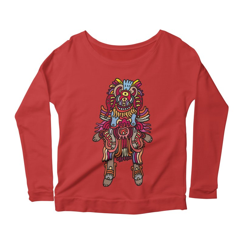 Olmeca Monster of the day (June 29) [Year 1] Women's Longsleeve Scoopneck  by Daily Monster Shop by Royal Glamsters