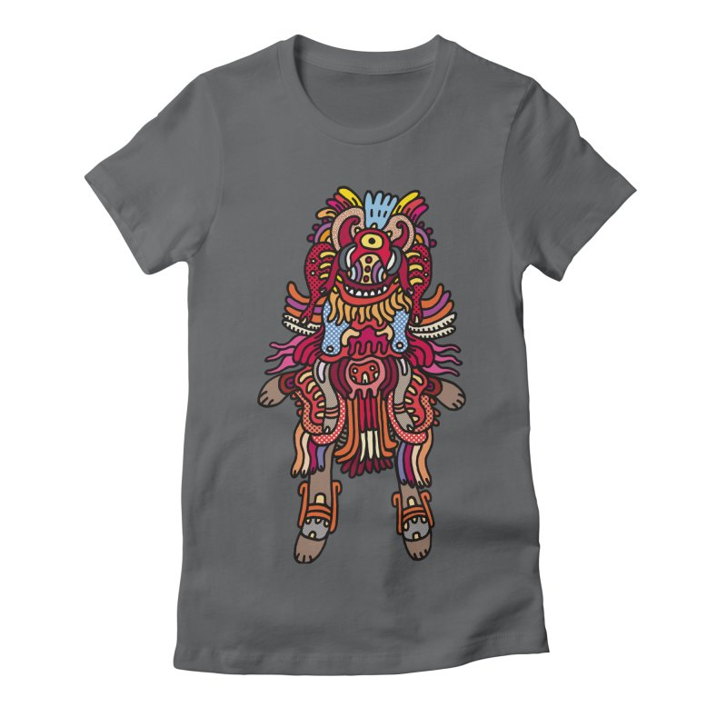 Olmeca Monster of the day (June 29) [Year 1] Women's Fitted T-Shirt by Daily Monster Shop by Royal Glamsters