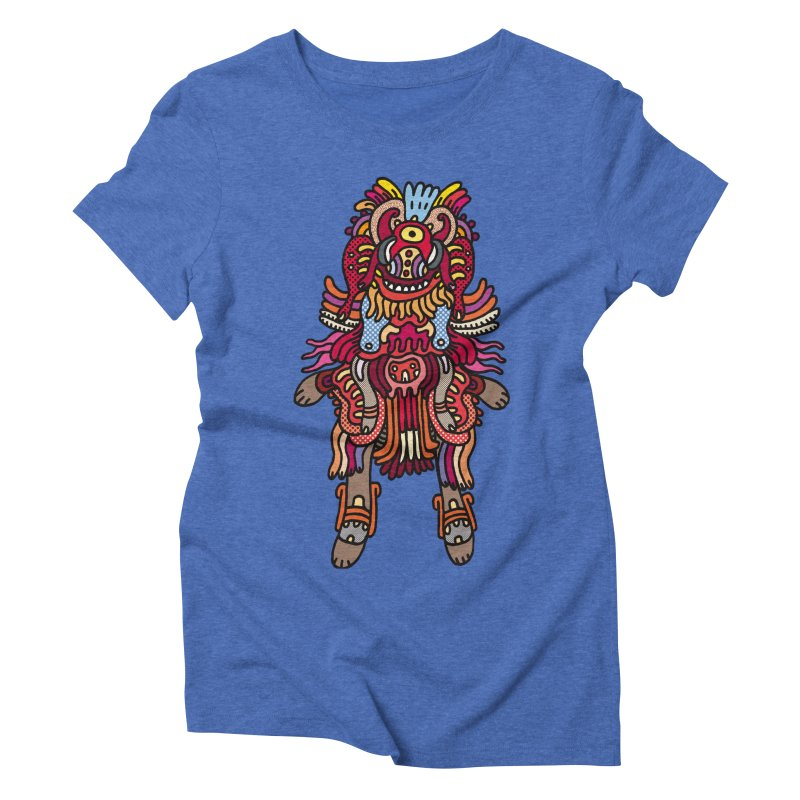 Olmeca Monster of the day (June 29) [Year 1] Women's Triblend T-Shirt by Daily Monster Shop by Royal Glamsters