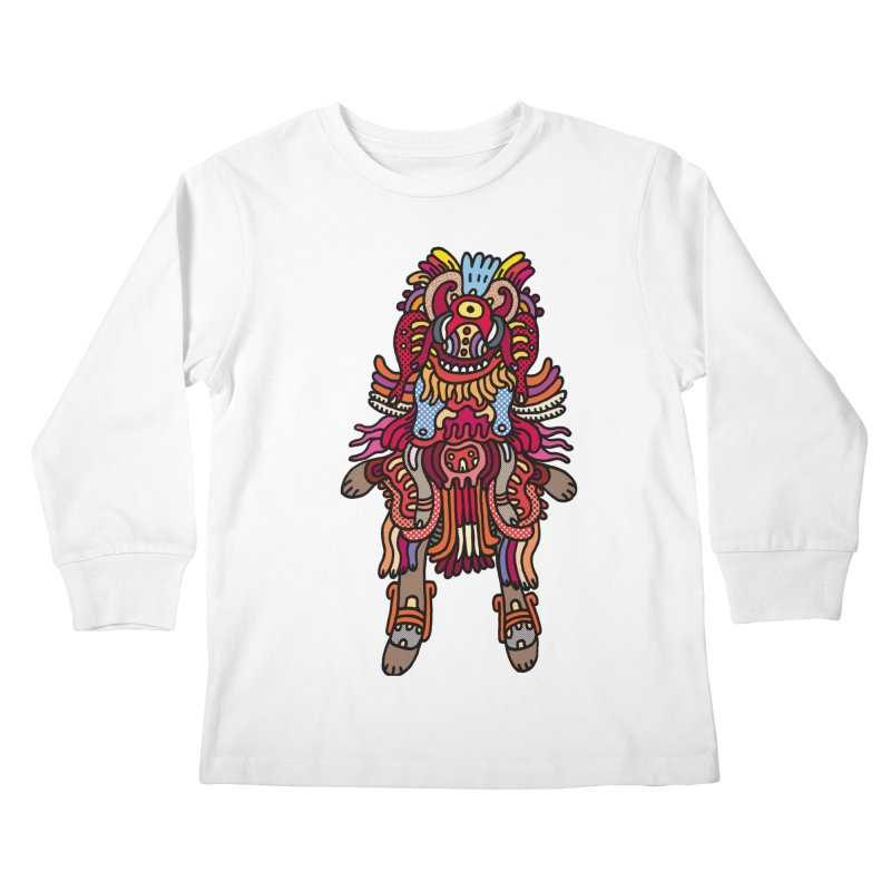 Olmeca Monster of the day (June 29) [Year 1] Kids Longsleeve T-Shirt by Daily Monster Shop by Royal Glamsters