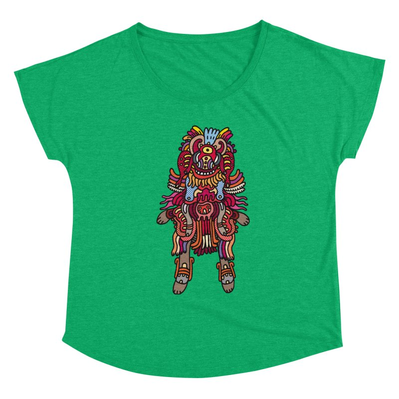 Olmeca Monster of the day (June 29) [Year 1] Women's Scoop Neck by Daily Monster Shop by Royal Glamsters