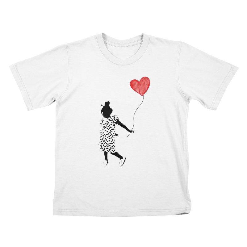LOVE WINS Kids T-Shirt by Royal Urban Artist Shop