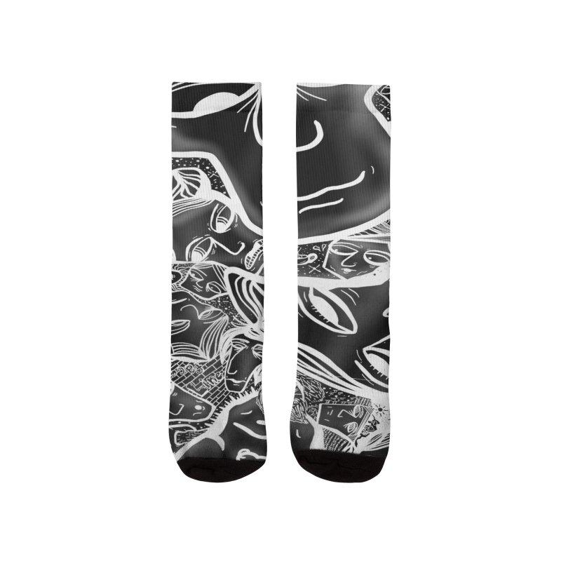 Black V2 Men's Socks by RubeZilla